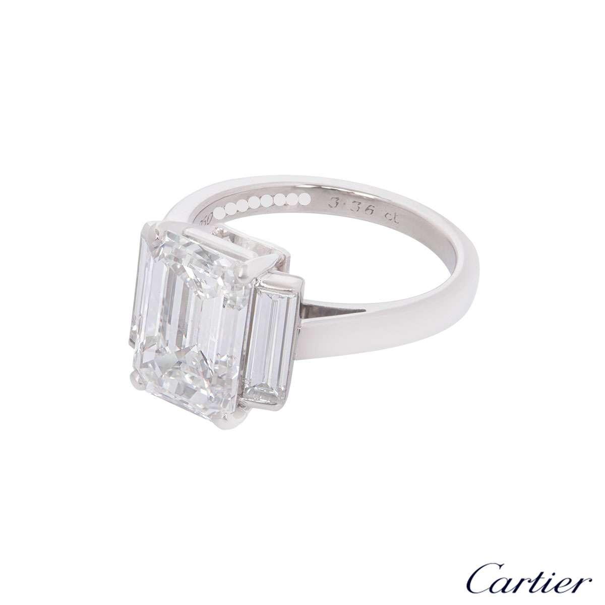 cartier emerald cut engagement ring